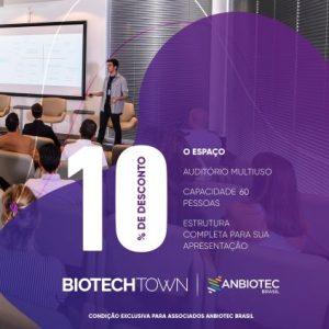 Parceria com o BiotechTown oferece vantagens para associados da Anbiotec Brasil