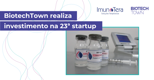 BiotechTown realiza investimento na 23ª startup